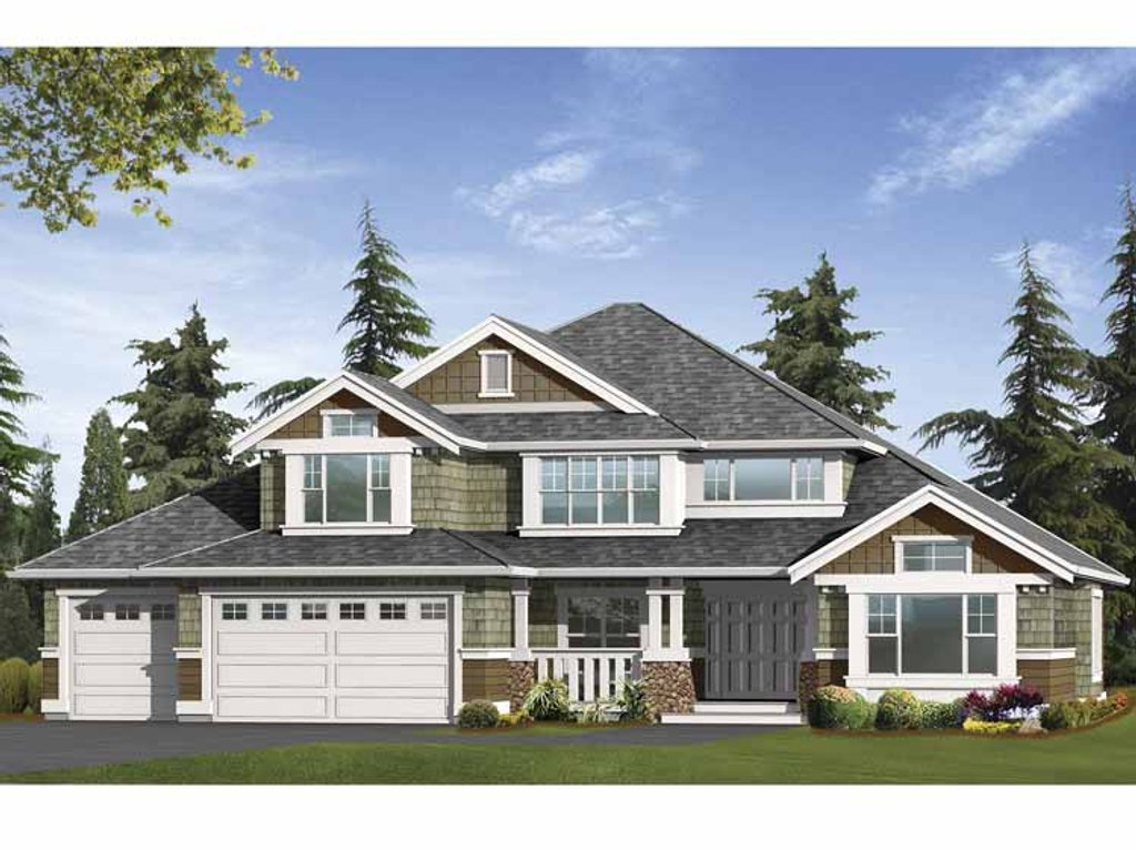 Craftsman style house plan 4 beds 2 5 baths 3040 sq ft for Best selling craftsman house plans