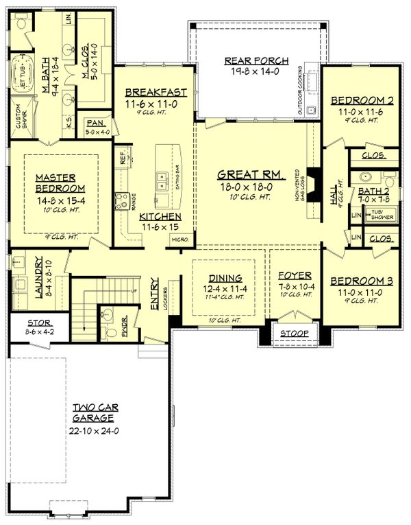 European Floor Plan - Main Floor Plan Plan #430-136