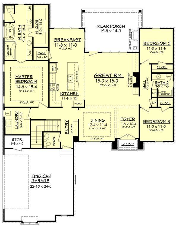 European Floor Plan - Main Floor Plan Plan #430-136