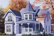 Home Plan - Victorian Exterior - Front Elevation Plan #23-223