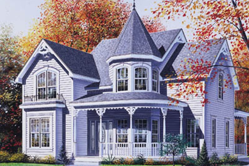 Victorian Style House Plan - 3 Beds 1.5 Baths 2040 Sq/Ft Plan #23-223