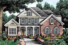 Country Exterior - Front Elevation Plan #927-685