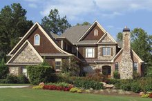 Architectural House Design - Craftsman Exterior - Front Elevation Plan #54-285