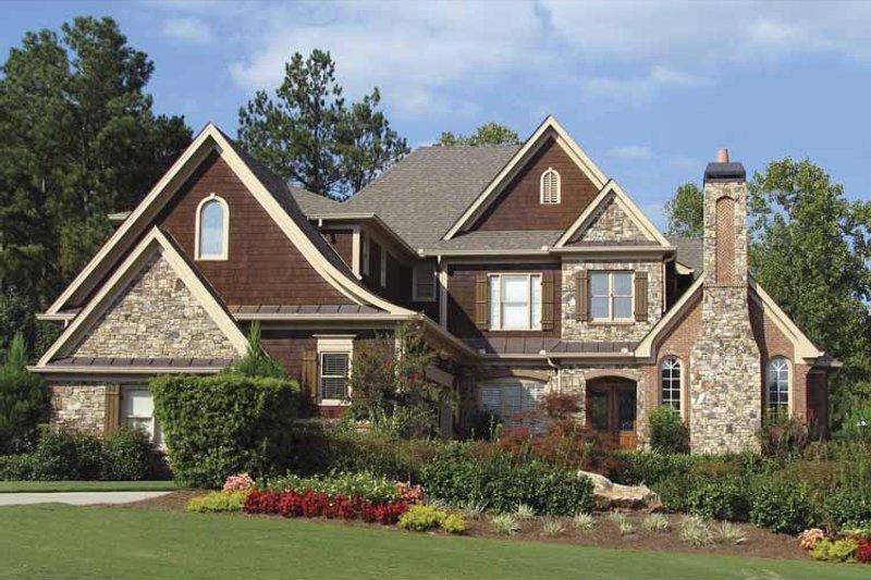 Craftsman Exterior - Front Elevation Plan #54-285 - Houseplans.com
