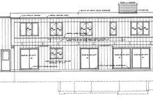 Contemporary Exterior - Rear Elevation Plan #72-621