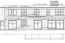 House Blueprint - Contemporary Exterior - Rear Elevation Plan #72-621