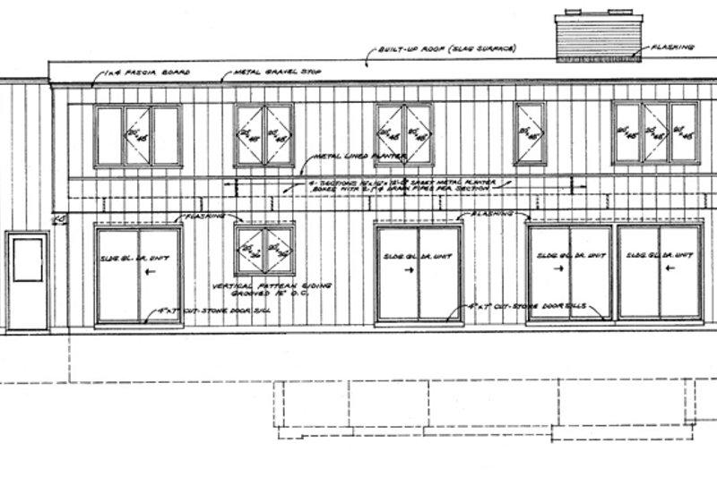 Contemporary Exterior - Rear Elevation Plan #72-621 - Houseplans.com