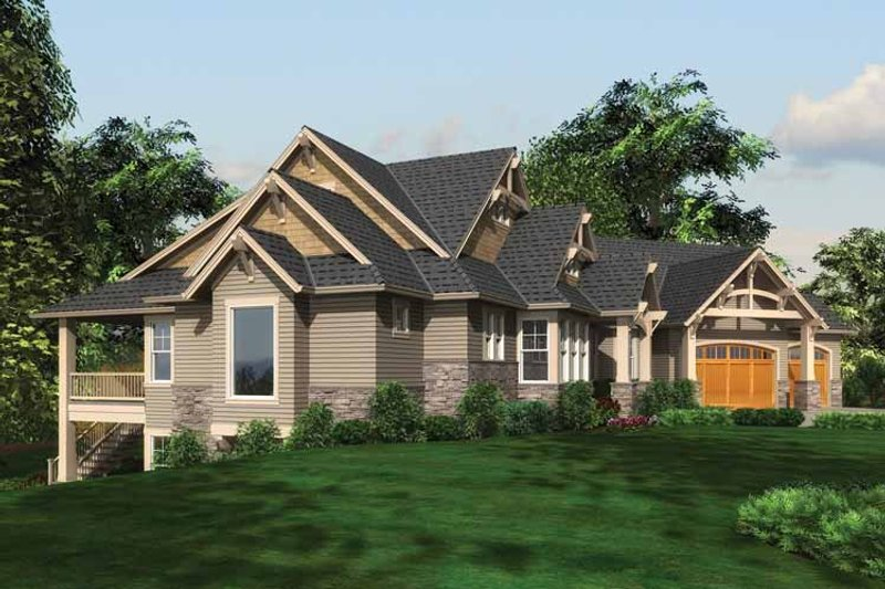 Craftsman Exterior - Other Elevation Plan #132-561 - Houseplans.com
