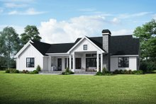 House Plan Design - Farmhouse Exterior - Rear Elevation Plan #48-984