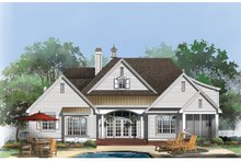 Dream House Plan - Traditional Exterior - Rear Elevation Plan #929-924