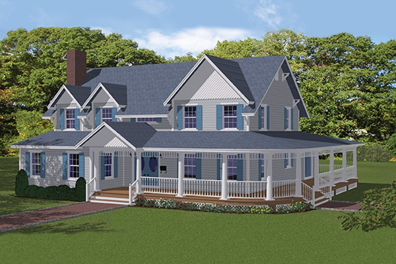 Architectural House Design - Colonial Exterior - Front Elevation Plan #1061-6