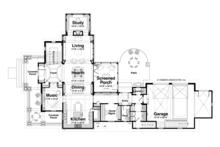 Craftsman Floor Plan - Main Floor Plan Plan #928-185
