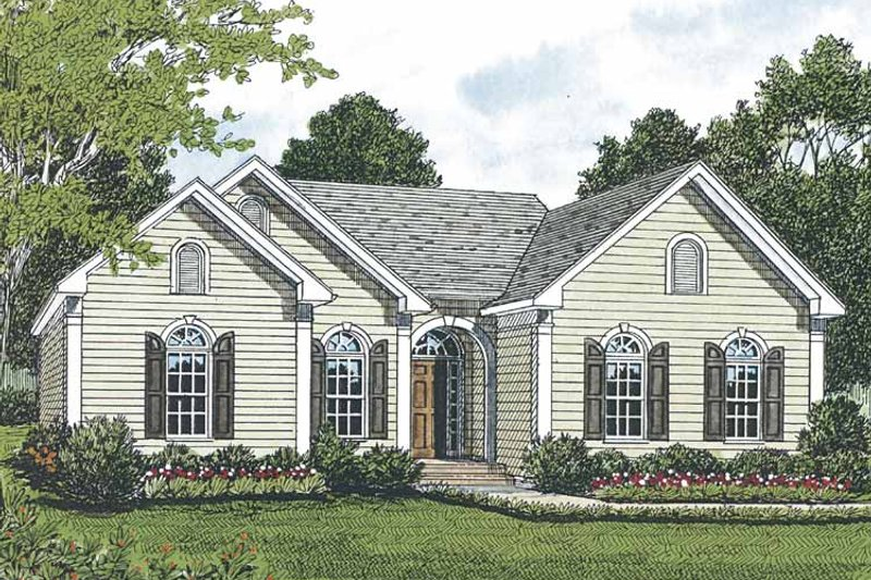 Architectural House Design - Traditional Exterior - Front Elevation Plan #453-493