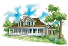 Architectural House Design - Victorian Exterior - Front Elevation Plan #930-224