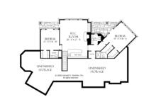 European Floor Plan - Lower Floor Plan Plan #929-894