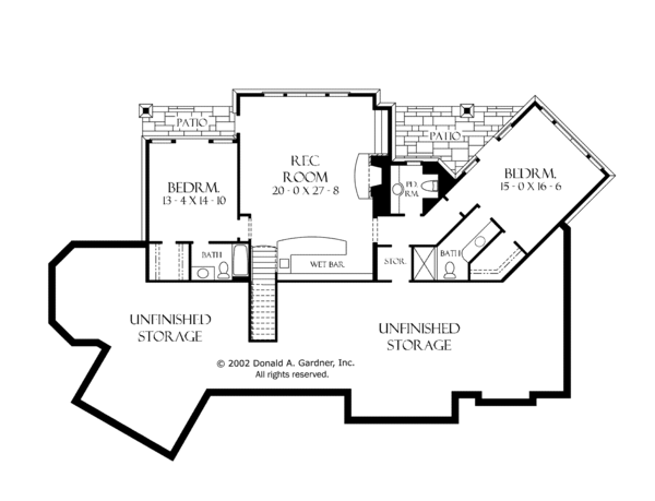 European Floor Plan - Lower Floor Plan Plan #929-894