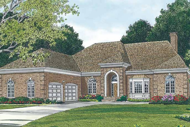Ranch Exterior - Front Elevation Plan #453-96