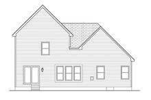 Colonial Exterior - Rear Elevation Plan #1010-99