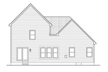 Home Plan - Colonial Exterior - Rear Elevation Plan #1010-99