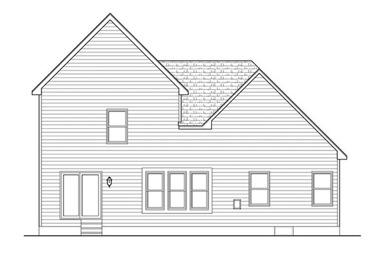 Colonial Exterior - Rear Elevation Plan #1010-99 - Houseplans.com