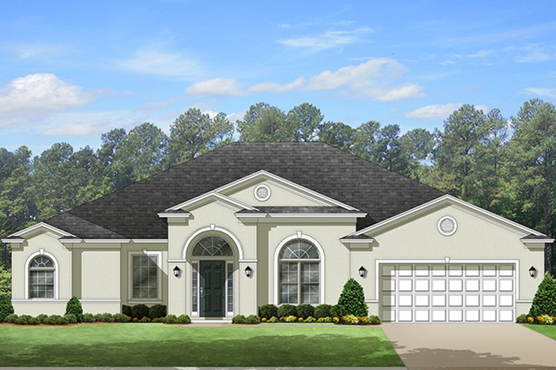 European Exterior - Front Elevation Plan #1058-130 - Houseplans.com