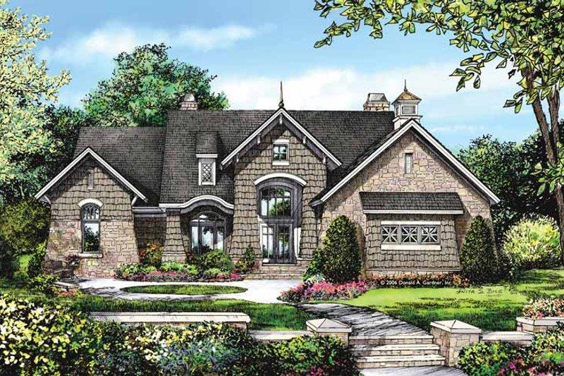 Architectural House Design - European Exterior - Front Elevation Plan #929-878