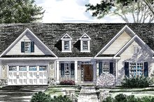 Ranch Exterior - Front Elevation Plan #316-286