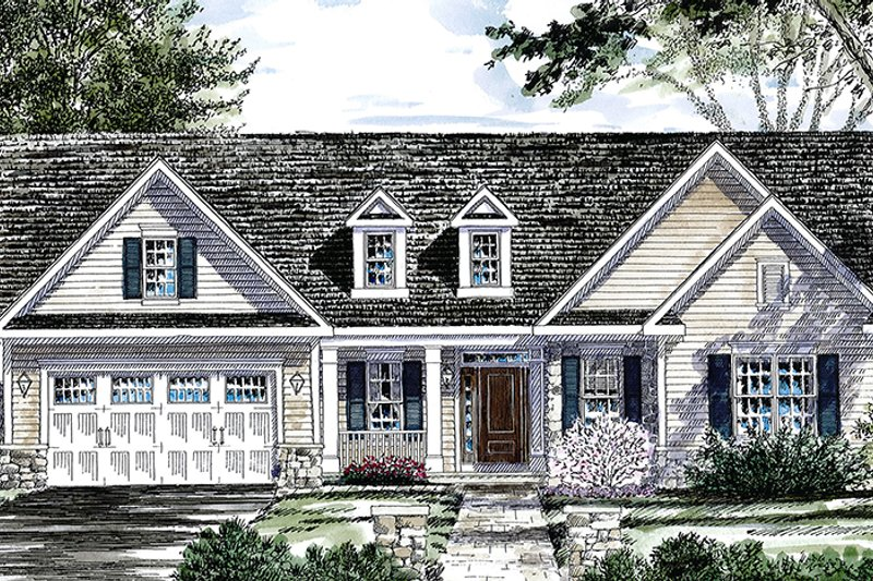 Ranch Exterior - Front Elevation Plan #316-286 - Houseplans.com