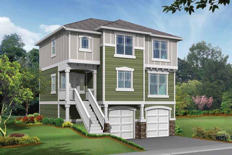 Craftsman Exterior - Front Elevation Plan #132-288 - Houseplans.com