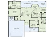 Country Style House Plan - 3 Beds 2.5 Baths 1791 Sq/Ft Plan #17-2550 Floor Plan - Main Floor Plan
