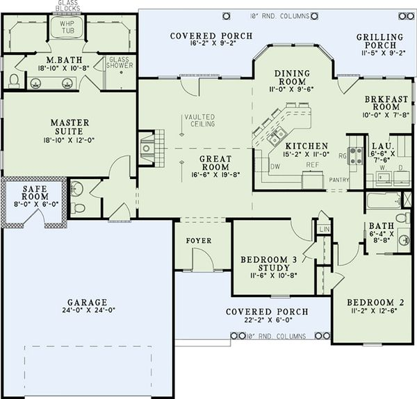 Country Floor Plan - Main Floor Plan Plan #17-2550