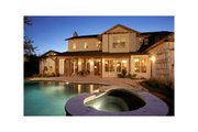 Mediterranean Style House Plan - 4 Beds 4.5 Baths 3937 Sq/Ft Plan #472-2 Exterior - Rear Elevation