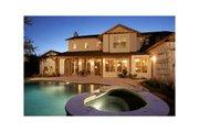 Mediterranean Style House Plan - 4 Beds 4.5 Baths 3937 Sq/Ft Plan #472-2 Exterior - Rear Elevation