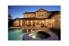 House Plan Design - Mediterranean Exterior - Rear Elevation Plan #472-2