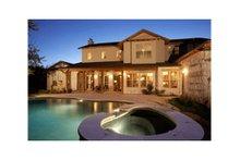 House Design - Mediterranean Exterior - Rear Elevation Plan #472-2