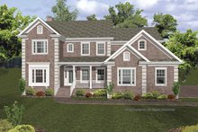 Home Plan - Traditional Exterior - Front Elevation Plan #56-670