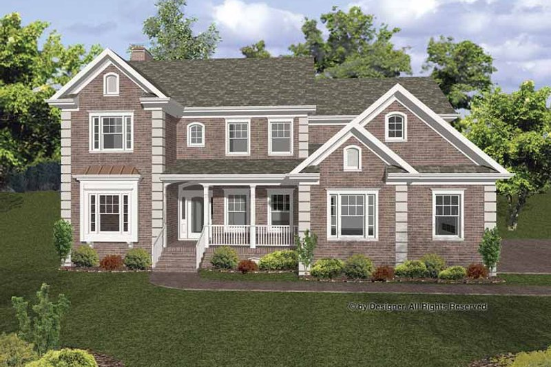 Traditional Exterior - Front Elevation Plan #56-670 - Houseplans.com