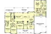 Farmhouse Style House Plan - 4 Beds 3.5 Baths 3086 Sq/Ft Plan #430-222 Floor Plan - Main Floor Plan