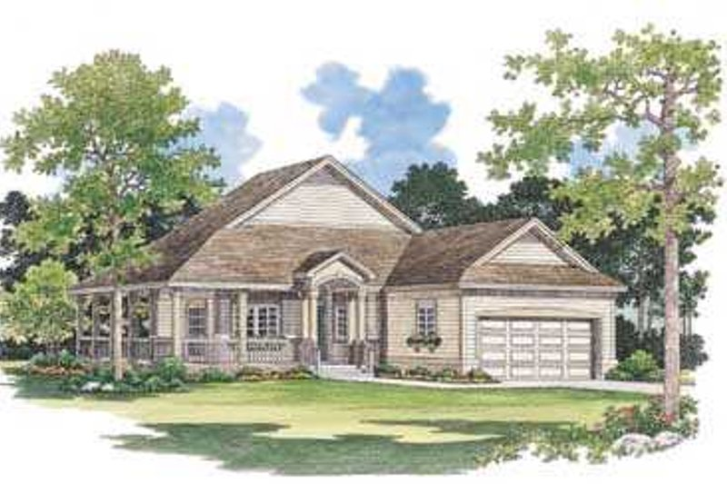 Country Exterior - Front Elevation Plan #72-103 - Houseplans.com