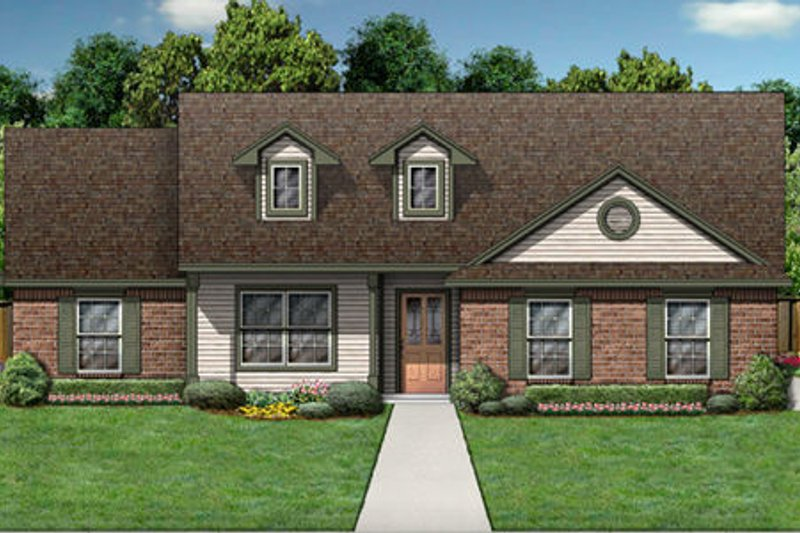 Cottage Exterior - Front Elevation Plan #84-490