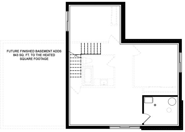 Modern Floor Plan - Lower Floor Plan #23-2719