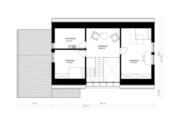 Contemporary Floor Plan - Upper Floor Plan Plan #906-4