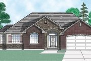 Traditional Style House Plan - 3 Beds 2.5 Baths 1608 Sq/Ft Plan #5-112 Exterior - Front Elevation