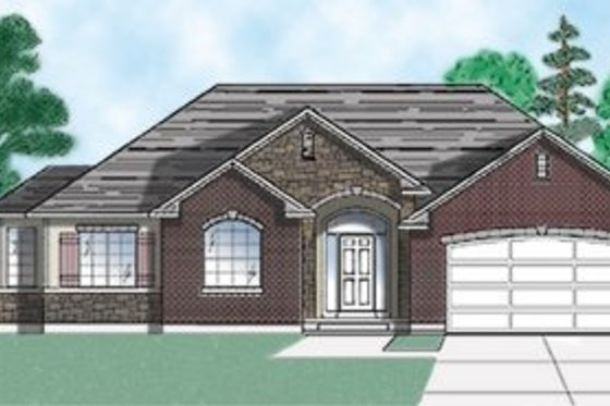 Traditional Exterior - Front Elevation Plan #5-112