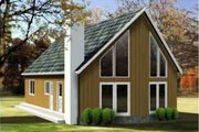 Contemporary Style House Plan - 3 Beds 1 Baths 1379 Sq/Ft Plan #1-1192 Exterior - Front Elevation