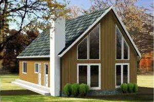 Contemporary Exterior - Front Elevation Plan #1-1192