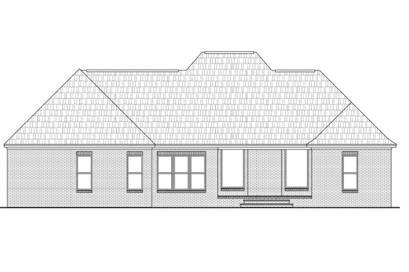 Country Exterior - Rear Elevation Plan #21-360 - Houseplans.com
