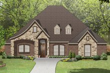 House Plan Design - European Exterior - Front Elevation Plan #84-574