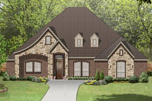 European Exterior - Front Elevation Plan #84-574