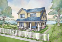 Cottage Exterior - Front Elevation Plan #928-314